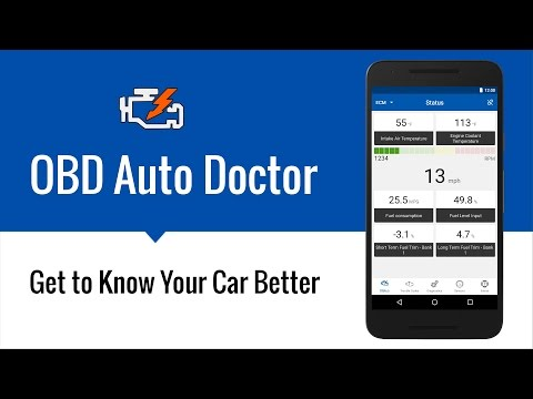 OBD Auto Doctor OBD2 App for iOS and Android Devices.