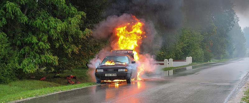 A car fire is quite a dangerous situation